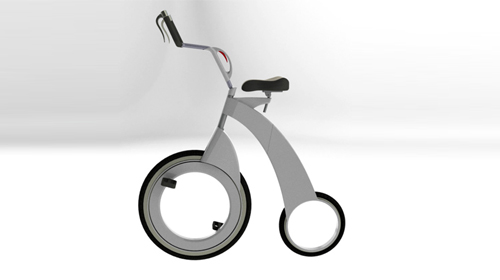 创意设计 折叠概念自行车 图文