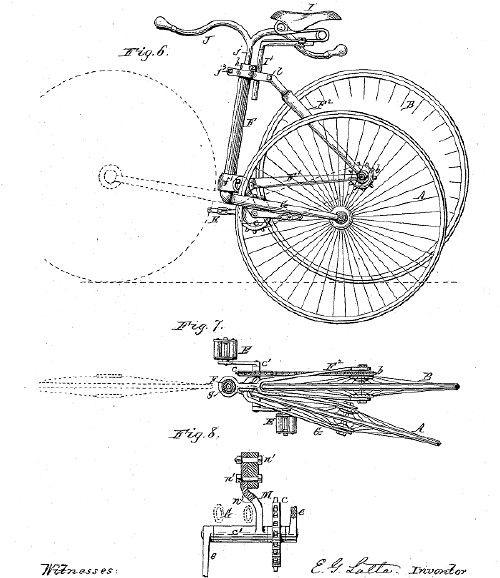 首个折叠车专利