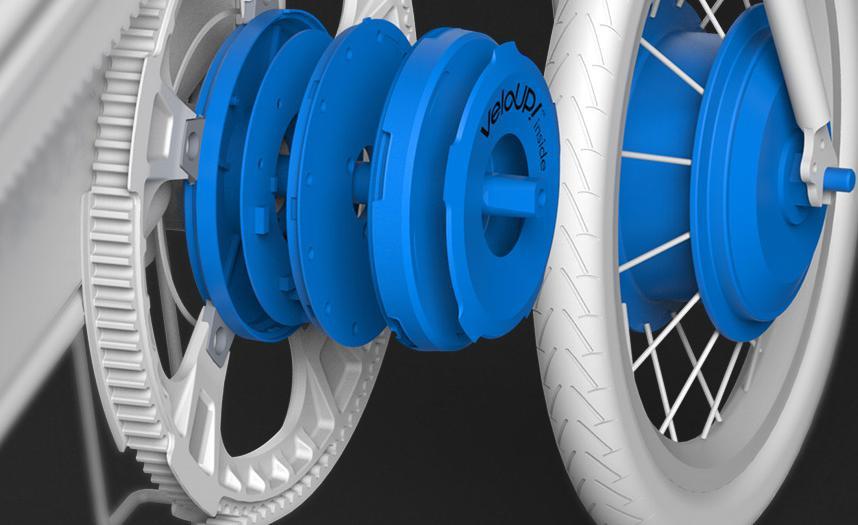 轻客自主研发的以力矩传感器为核心的VeloUP威履智慧动力系统 动力辅助系统(PAS)的核心传感器叫力矩传感器,也叫扭矩传感器,英文为Torque sensor,而之所以会有这样的名字,是因为它安装在自行车的中轴上,而中轴连接着曲柄,在骑行过程中正好是形成扭杆结构,中轴在受到扭力时表面就会产生肉眼不可见的细微形变,通过测量形变即可根据数学模型计算出人力大小。直到最近两年,拥有清华大学汽车工程系背景的轻客才自主研发出力矩传感器,并基于传感器打造了一套拥有自主知识产权的VeloUP威履智慧动力系