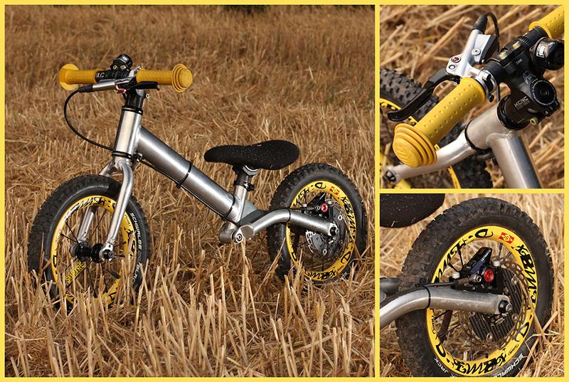 外国骑行爱好者自己喷出来的迷你版Mavic大黄轮