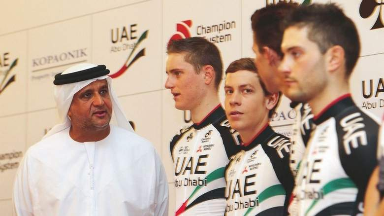 自行车坛富豪,职业自行车队老板,金主,阿联酋阿布扎比车队