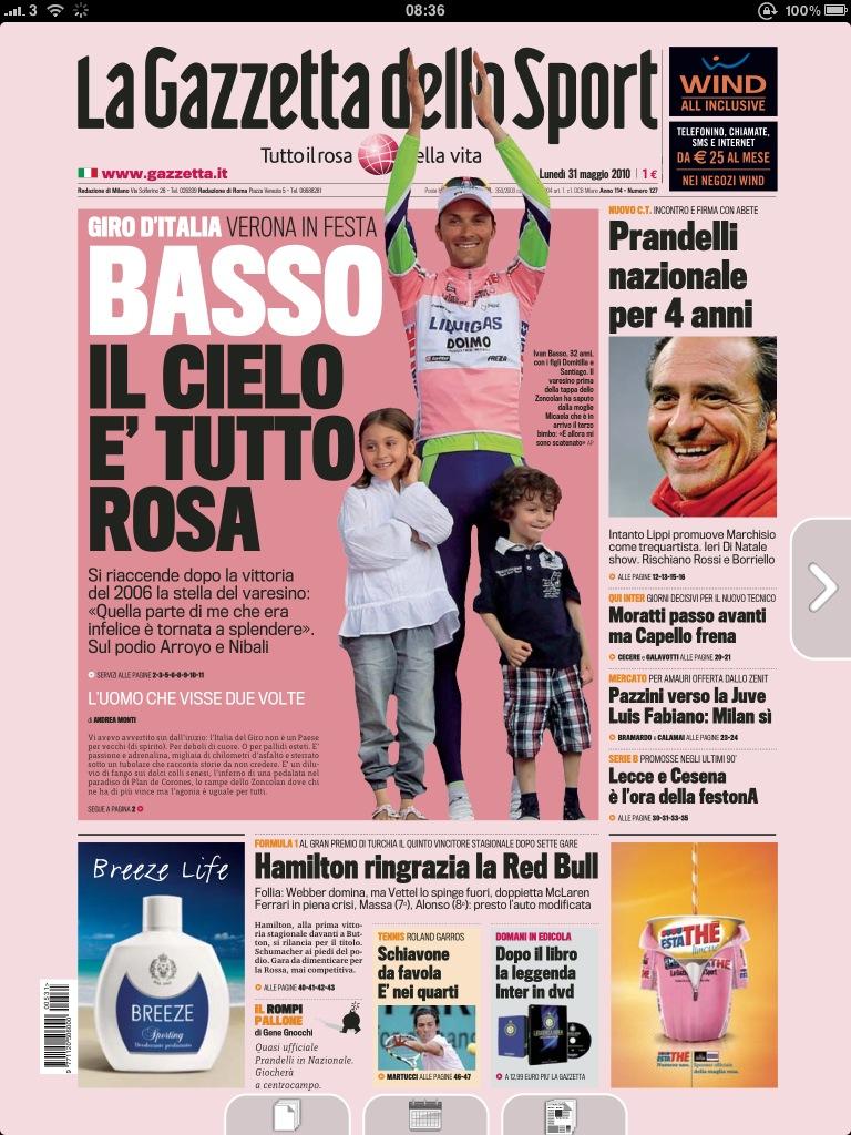 米兰体育报的标志性特点是印在粉色纸上