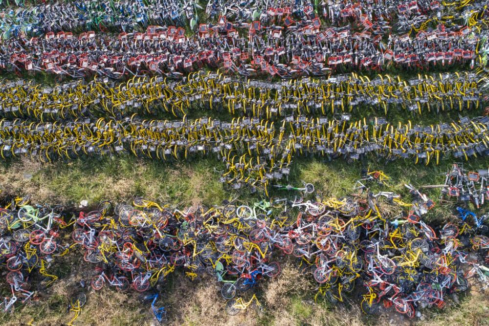共享单车残骸,回收垃圾,拾荒者,后共享单车时代