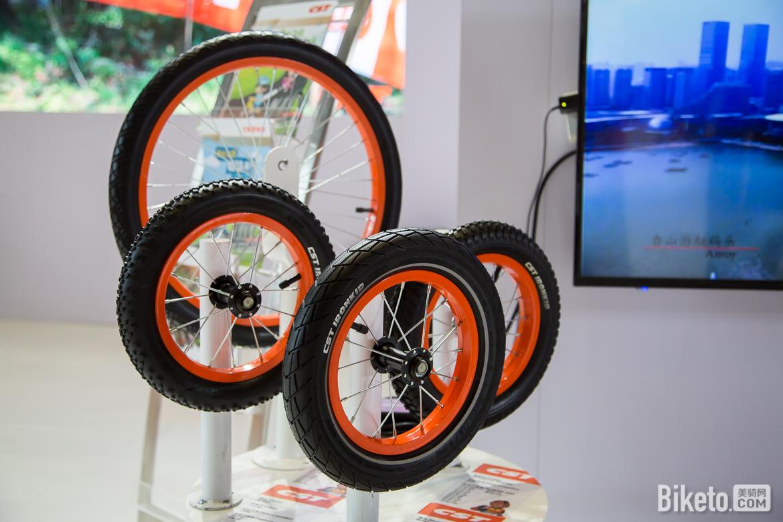 正新为各尺寸童车设计的专业轮胎。