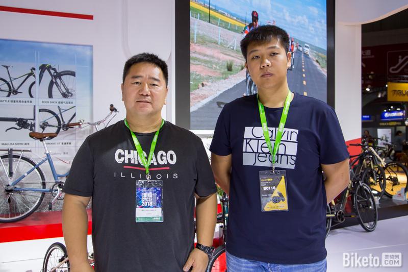 富士达副总经理景毅龙及销售部副总助理吴冰