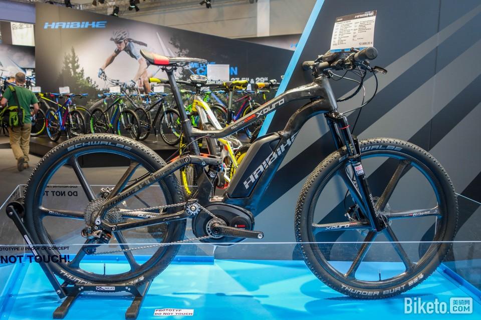 全球首辆全碳纤软尾电动运动助力自行车XDURO Fullcarbon