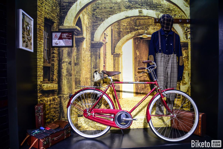 凤凰古典自行车,涂装十分好看.jpg
