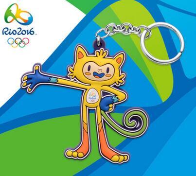 里约奥运吉祥物钥匙扣图片