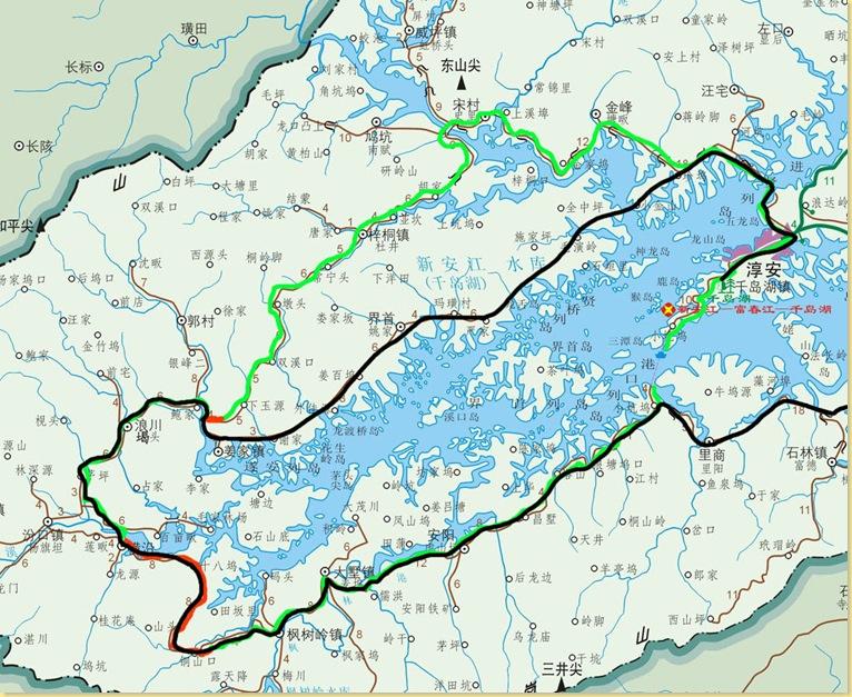 叆河风景区地图