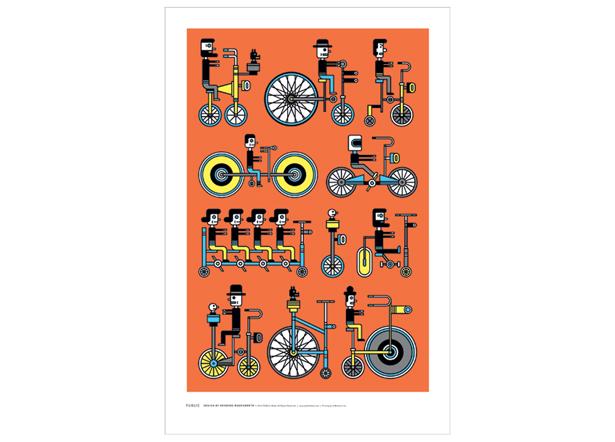 自行车的艺术:精美的自行车海报
