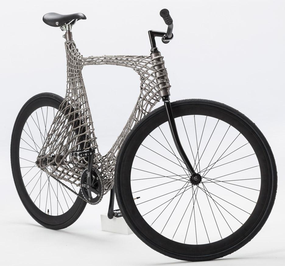 第一辆3d打印的不锈钢自行车