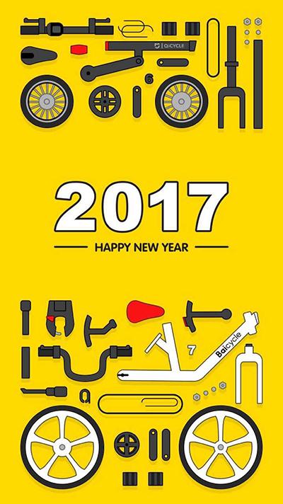 """在2016年末推出了共享单车项目""""小白单车""""的小米骑记在海报中""""解剖"""