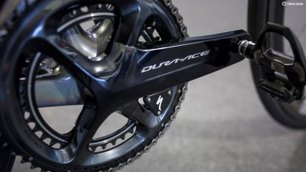 A closer look at the Specialized power meter, which looks very similar to a 4iiii unit.jpg