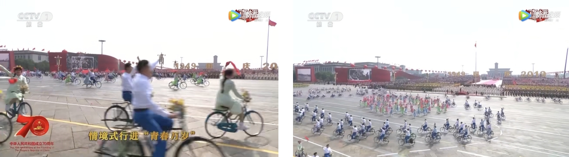 """國慶群眾游行:""""青春萬歲""""方陣里流瀉出的幸福記憶"""