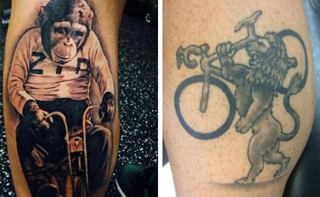 露出自行车纹身 瞬间提升逼格图片