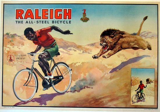 早期自行车广告海报