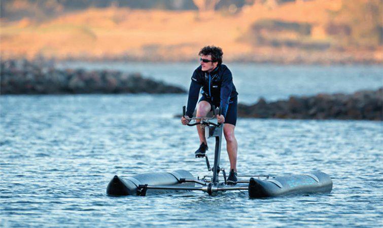 水上自行车在旅游地成热门 该公司的客户主要是酒店