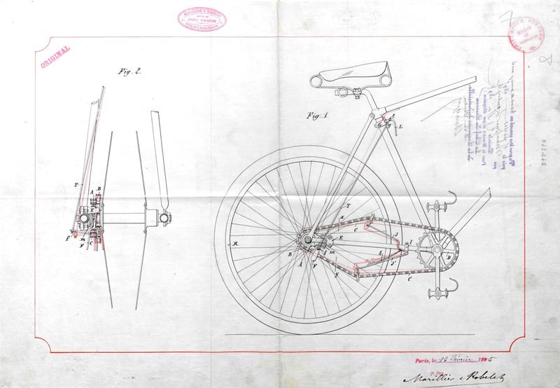单车l链简笔画