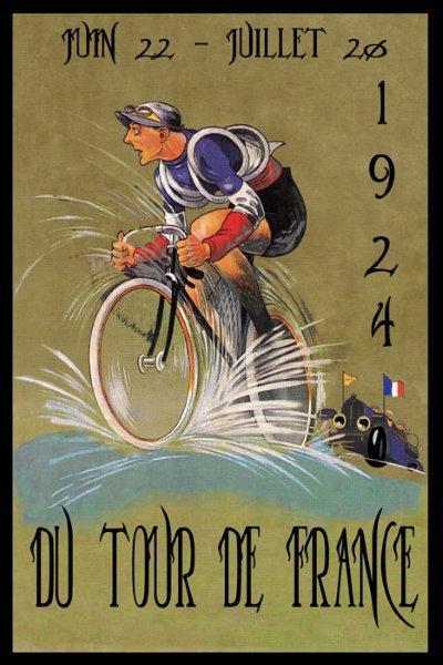 环法海报,充满法国元素(国旗,红白蓝颜色),然而当年环法意大