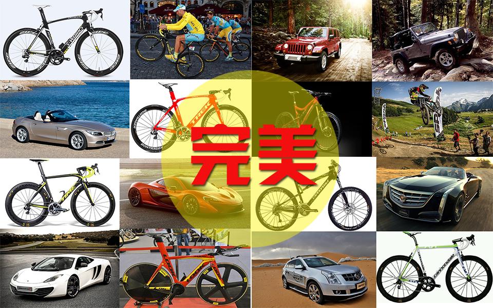 这里列举一些常见的自行车品牌,找一个汽车品牌与之类比.