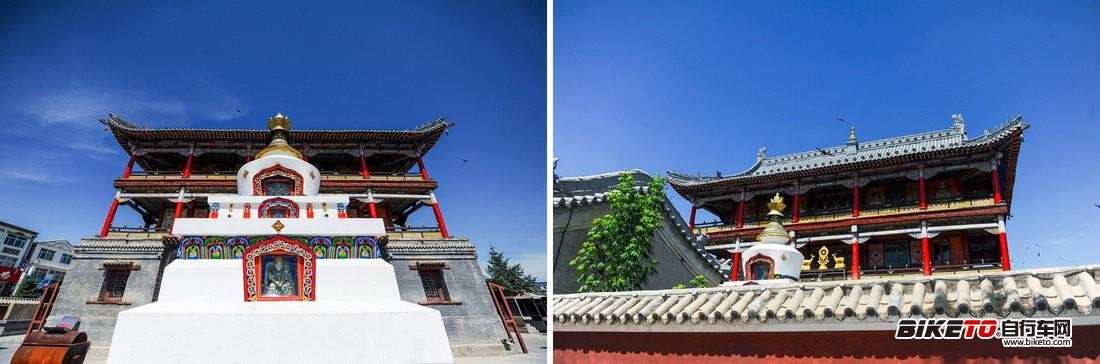 西乌旗文化广场旁的寺庙1