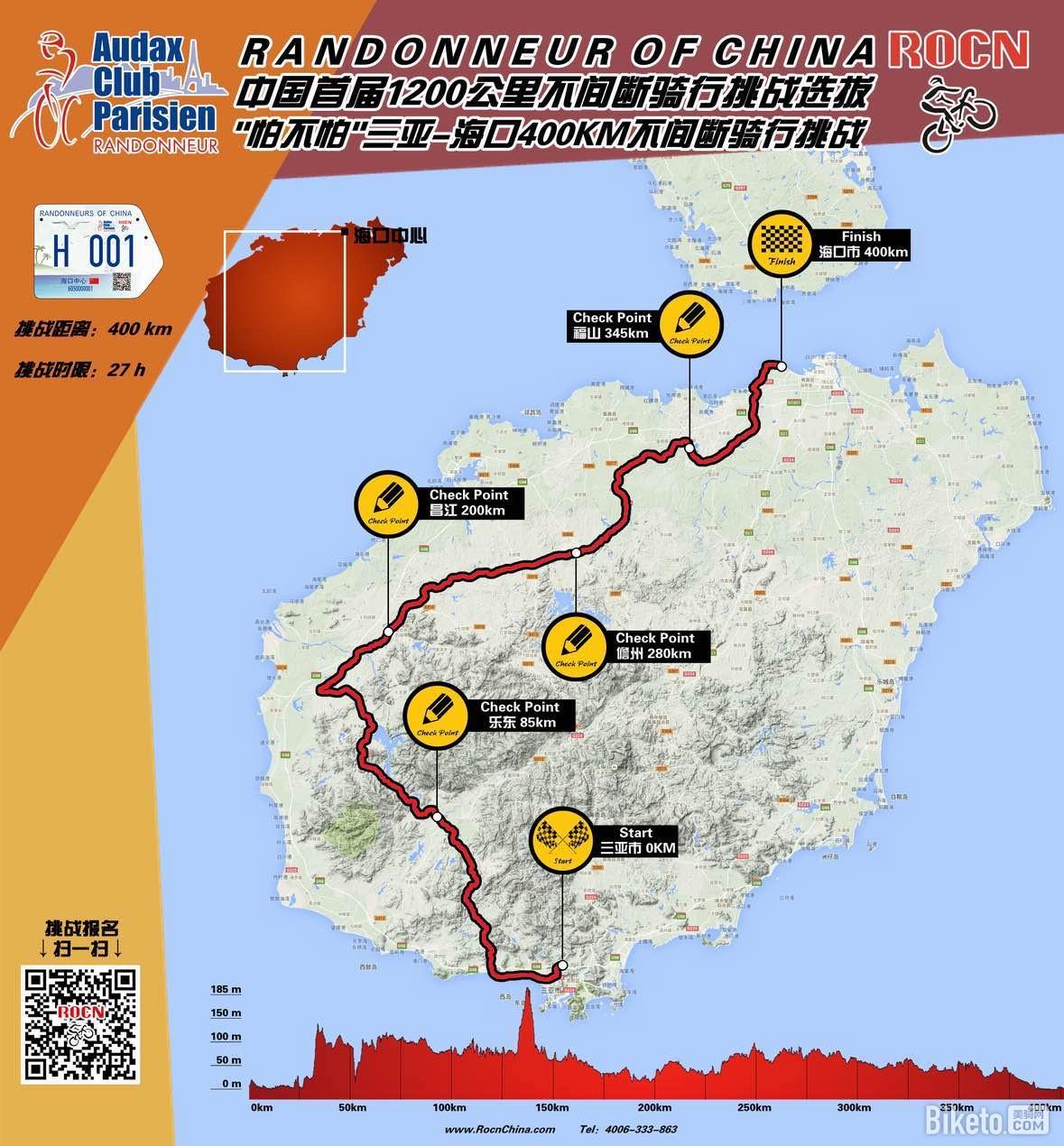 法国pbp西部穿越海南岛400km不间断骑行挑战赛圆满落幕