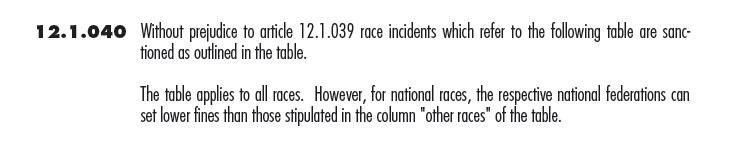 UCI规则12.1.040