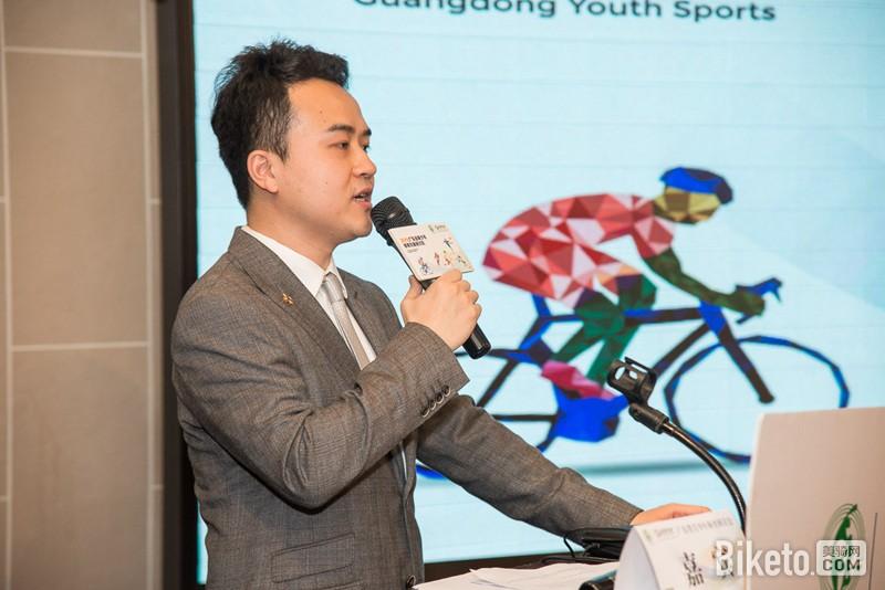 ▲会议由广东体育频道主持人刘路主持-侃侃而谈 广东省青少年体育发图片