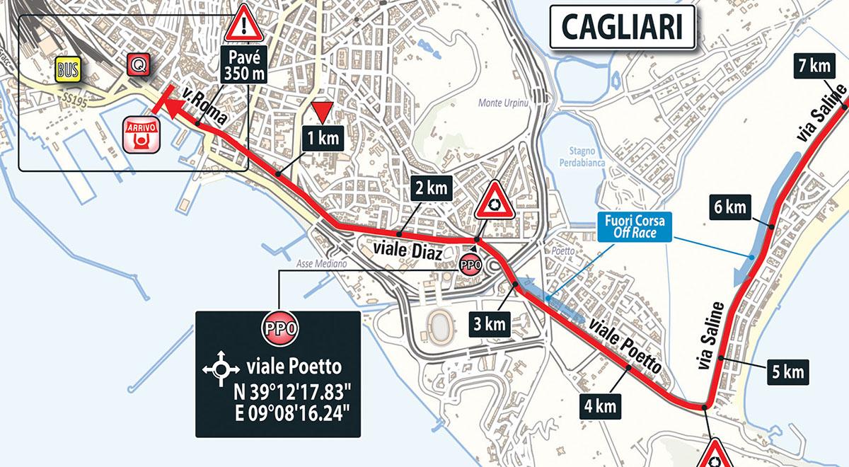 托尔托利(tortoli) - 卡利亚里(cagliari) 148公里 平路赛段 撒丁岛的