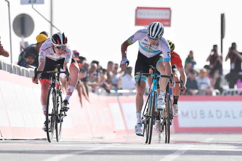 UAE Tour 2020 - Pogacar beats Lutsenko on the finish line of Stage 5.jpg