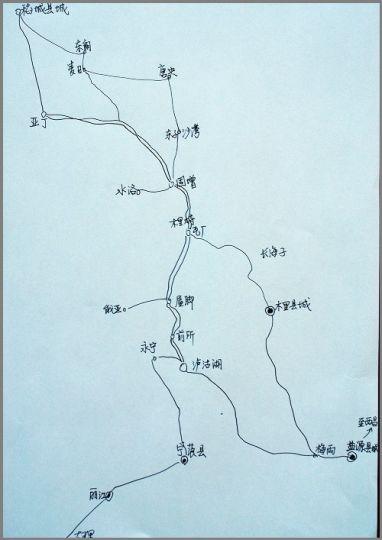 永宁古镇手绘地图