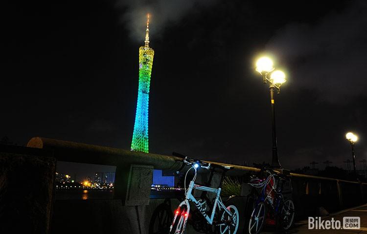 夜骑珠江边