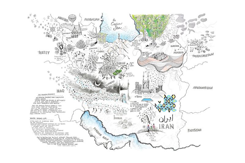 她用手绘地图讲述了骑行故事|创意