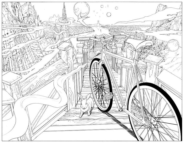 车还可以涂色 自行车涂色本脑洞大开