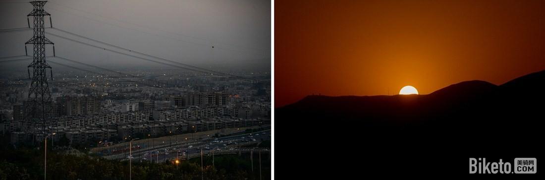 夜幕降临德黑兰