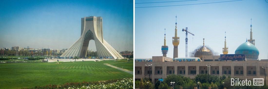 伊朗自由纪念塔和霍梅尼墓