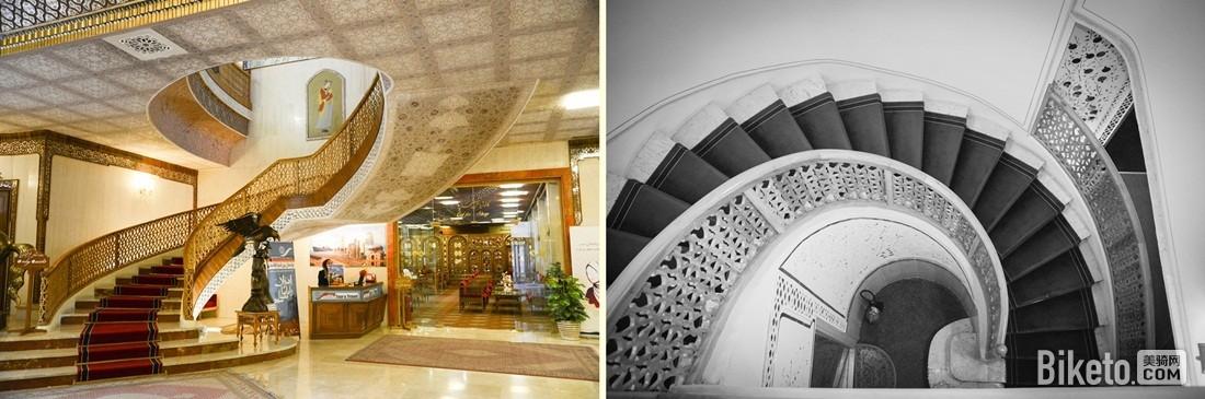 沙赫阿巴斯饭店的楼梯