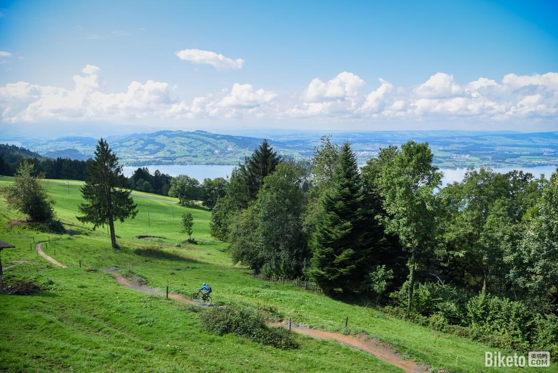 瑞士楚格山山地车道