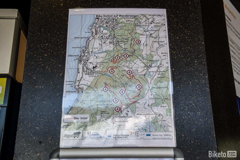 楚格山骑行地图