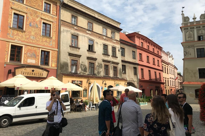 卢布林,老城区,墙画