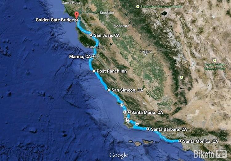 加州1号公路:此生必骑的经典 国外骑游 骑行攻略 骑行路线 - 美骑网