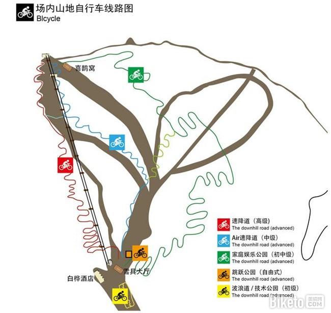 多乐美地单车公园路线图