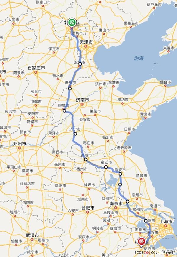 京杭运河沿岸的城市_经典路线 | 国内十条千公里长途路线盘点第2页|骑行路线|单车 ...
