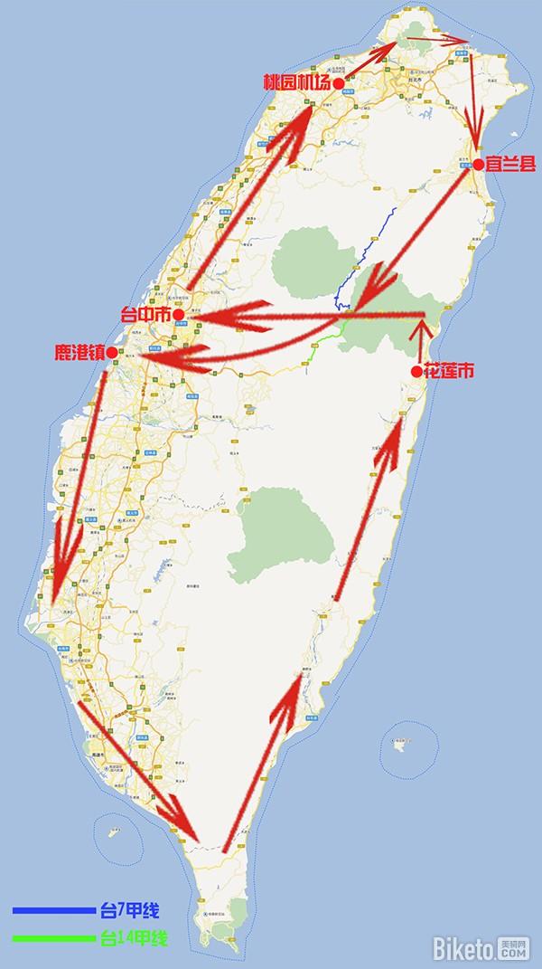 攻略单车|环台湾骑行经典(中横攻略篇)|公路旅宜昌两坝一峡一日游路线图片