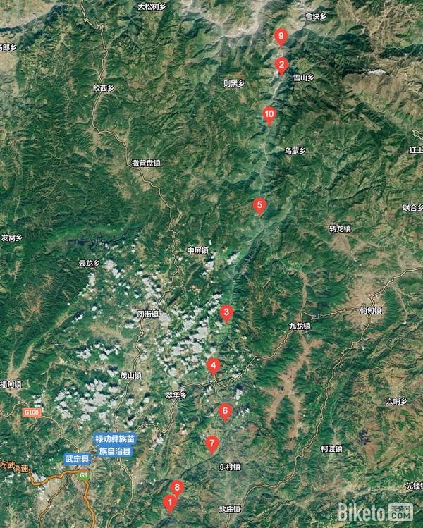 普渡河线路卫星图