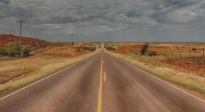 骑行路线,笔直的公路,美国路线,加拿大路线,国外骑游