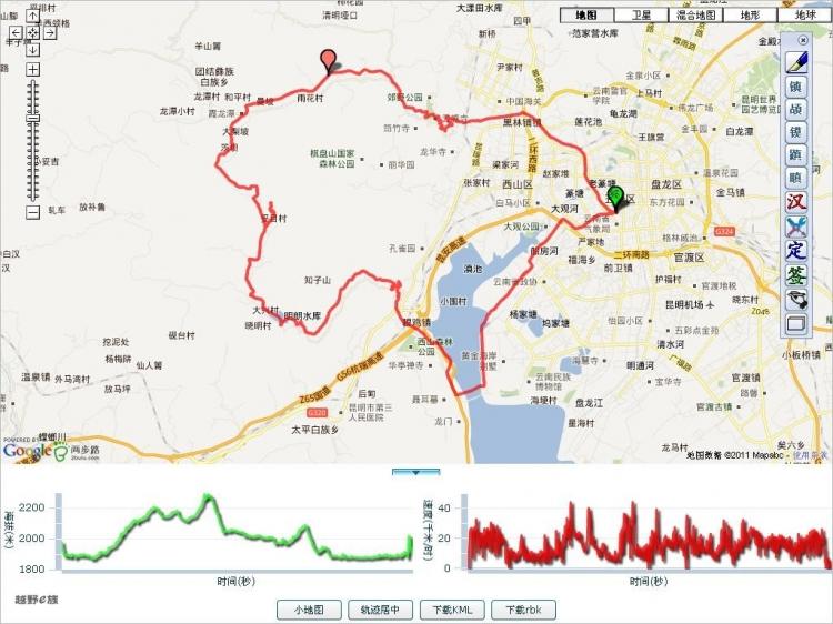 骑行路线,云南昆明,,国内骑游,滇池