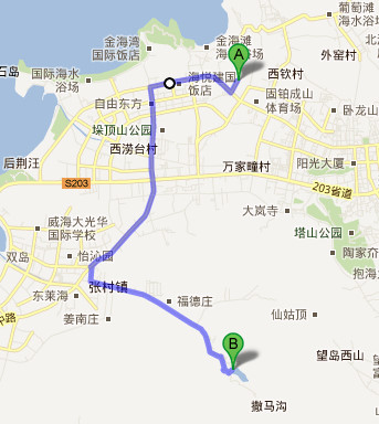 骑行路线,国内骑游,山东威海