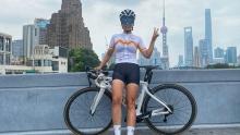 单车美女丨超级爱笑的Livia――天使翅膀下的将士心