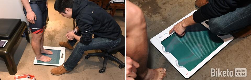 检查和测量足部形态